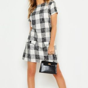 Plaid Shift Dress